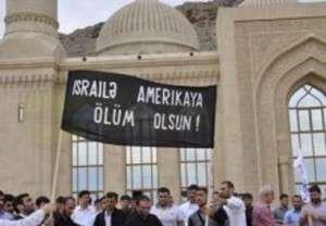 Bibi Heybət məscidinin qarşısında qüds aksiya keçirdi