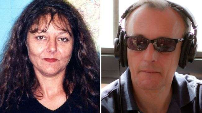 French journalists Ghislaine Dupont (L) and Claude Verlon