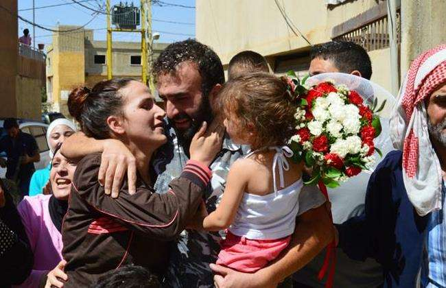 Five Freed Lebanese Soldiers Reunited with Families