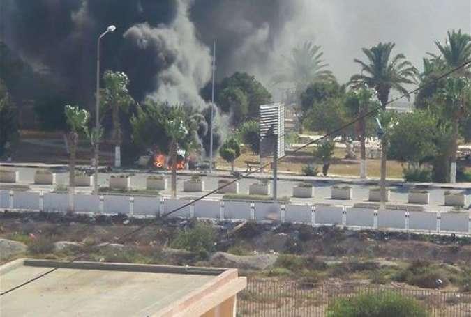 حمله ی نیروهای هوایی لیبی به مواضع تروریستهای داعش