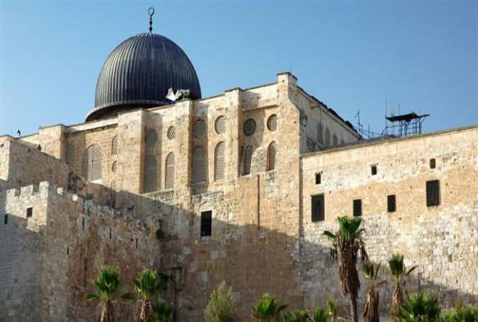 The al-Aqsa Mosque in East al-Quds (Jerusalem).