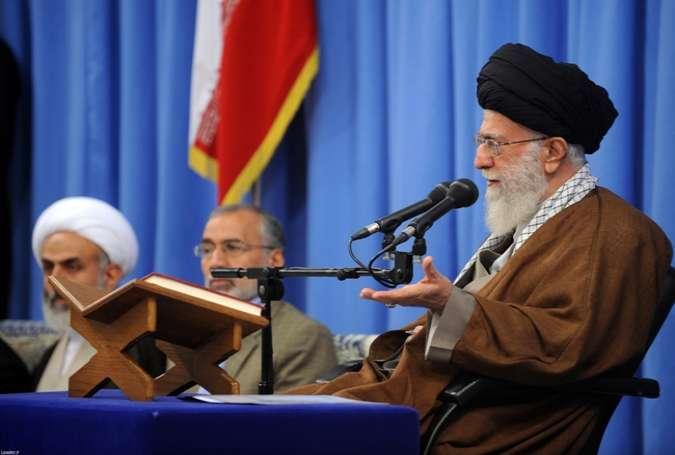 امریکہ طاغوت اعظم اور سب سے بڑا شیطان ہے، دشمن مقتدر اور طاقتور اسلام سے خائف ہے، سید علی خامنہ ای