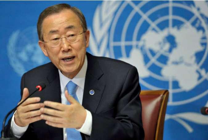 بان کی مون: ادامه اشغال فلسطین تهدید روند حل مشکلات است