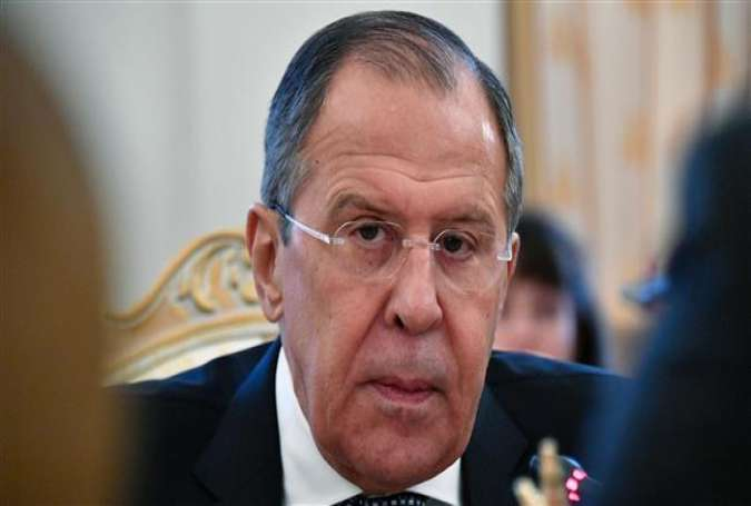 Russian Foreign Minister Sergei Lavrov looks on as he meets with his Austrian counterpart in Moscow, January 18, 2017.