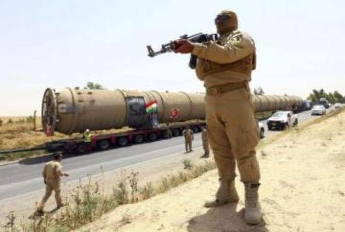 حمله ی تک تیراندازهای خارجی به نیروهای امنیتی عراق در صورت نزدیک شدن به چاههای نفت کرکوک