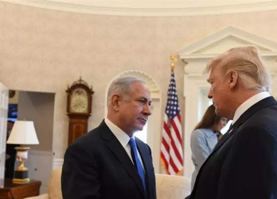 In this undated photo US President Donald Trump, right, shakes hands with Israeli Prime Minister Benjamin Netanyahu at the White House, in Washington, DC. (Photo by GPO)