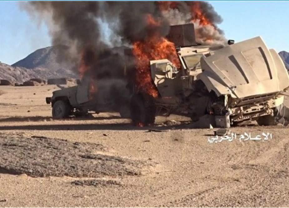 """انهدام ۴ خودروی زرهی متجاوزان در عملیات ارتش یمن در""""عسیر"""""""