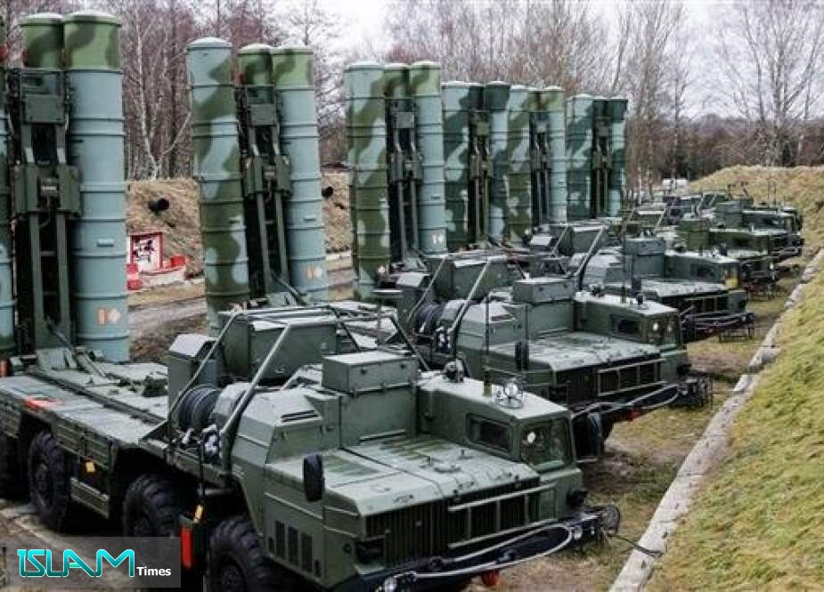 This file picture shows sophisticated Russian-made S-400 anti-aircraft missile systems in the Black Sea peninsula of Crimea, Russia