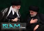 "Muqtada al-Sadr Bersama Imam Ali Khamenei dan Mayjen Soleimani  <img src=""https://cdn.islamtimes.org/images/picture_icon.gif"" width=""16"" height=""13"" border=""0"" align=""top"">"