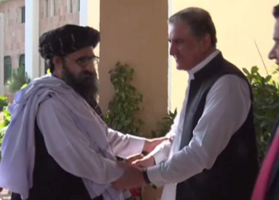 افغان طالبان کی شاہ محمود قریشی سے ملاقات