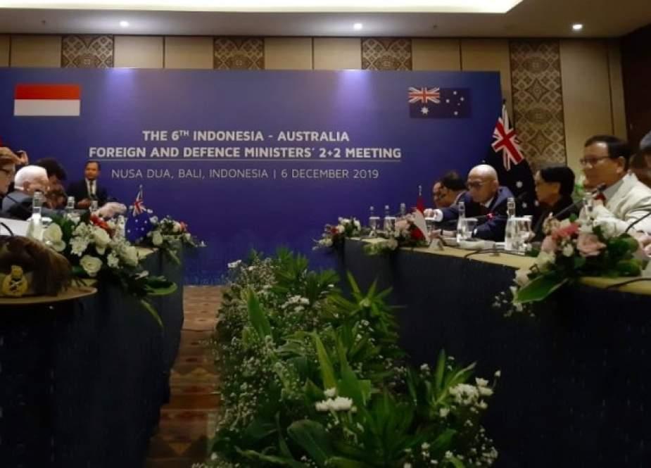 Pertemuan 2+2 (two plus two) antara Indonesia dan Australia membahas keamanan maritim. (Foto: Medcom)