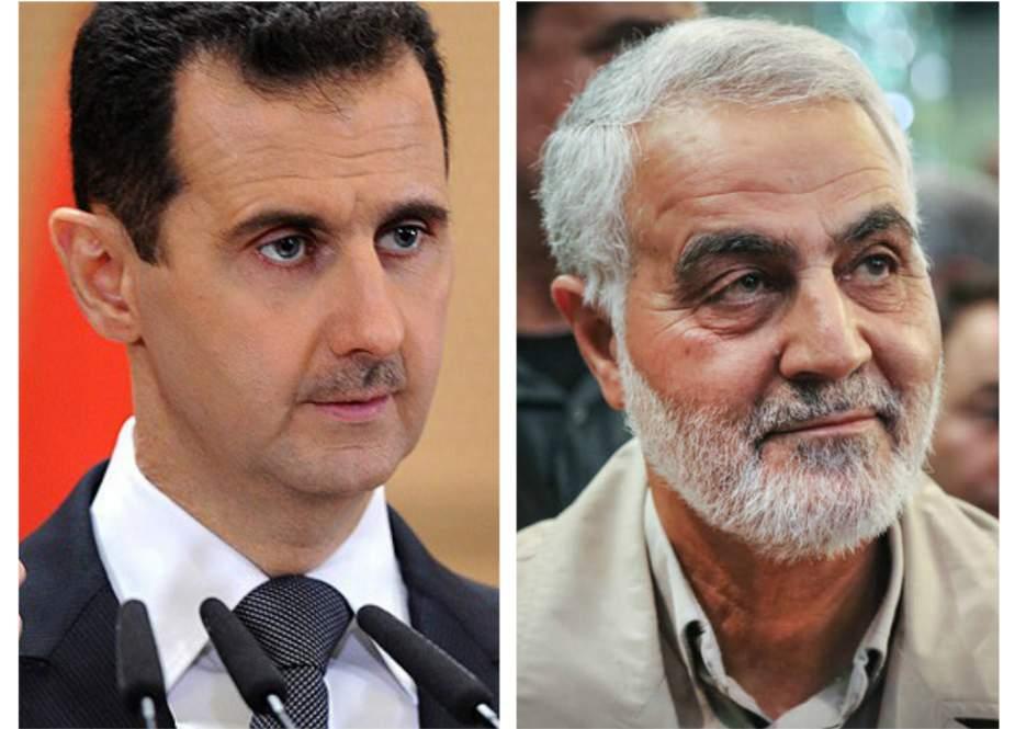 Beşar Esad: Suriye halkı hiçbir zaman General Süleymani'yi unutmayacaktır