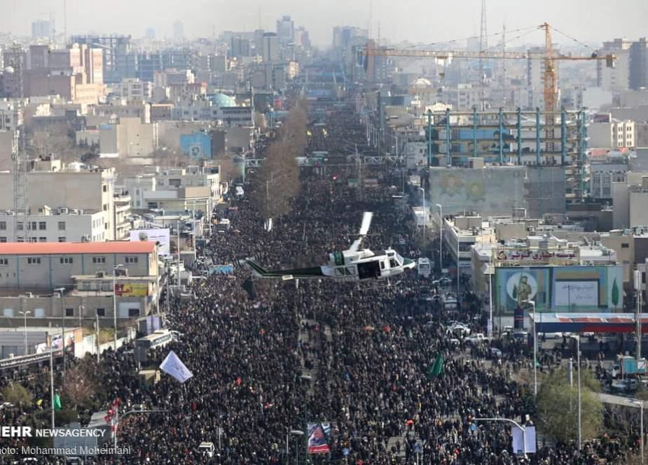 5 million Iranians in Tehran mourned the martyrs General Qassem Suleimani, Hajj Abu Mahdi Al-Muhanidis.jpg