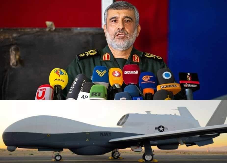 MQ-4 امریکی ڈرون طیارے کی ٹیکنالوجی ٹریس کرلی ہے، اب یہ ایران کیخلاف کارآمد نہیں رہا، جنرل حاجی زادہ