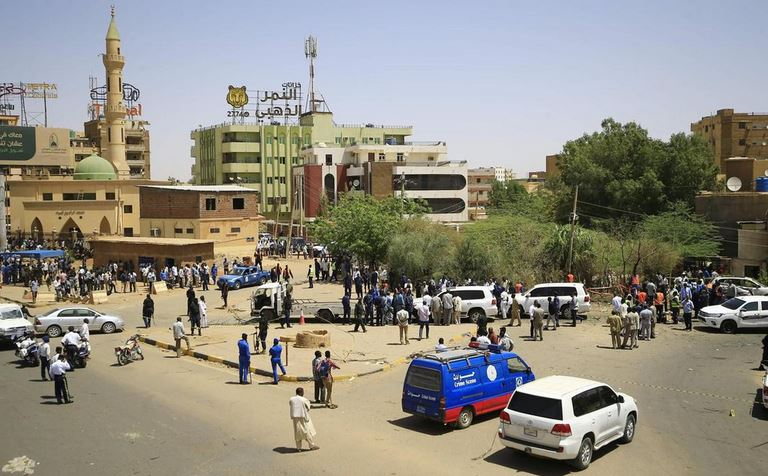 The site of an assassination attempt against Sudan's Prime Minister Abdalla Hamdok, who survived the attack with explosives unharmed, in the capital Khartoum. AFP