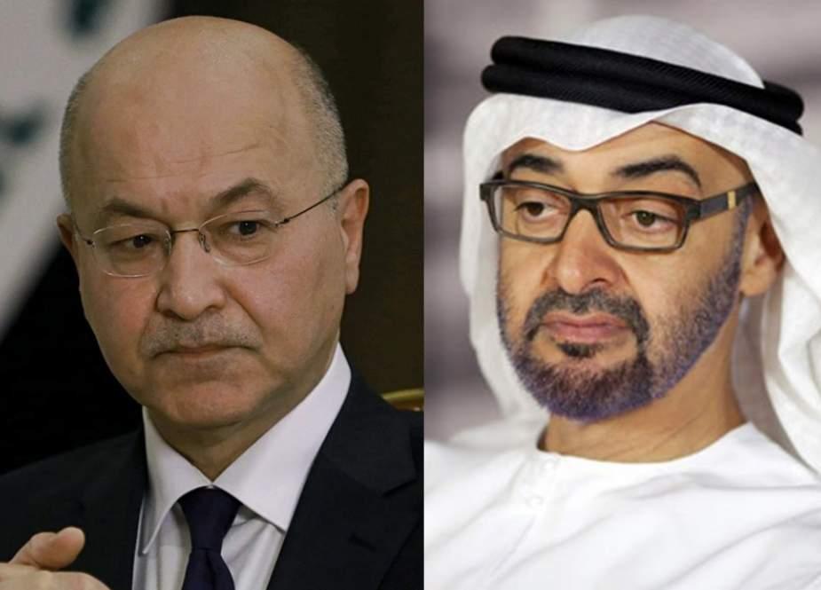 رایزنی رئیس جمهوری عراق با ولیعهد ابوظبی