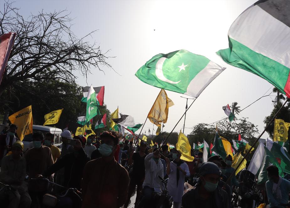 عالمی یوم القدس، کراچی میں تحریک آزادی القدس و آئی ایس او کے زیر اہتمام عظیم الشان ریلی کی تصویری جھلکیاں