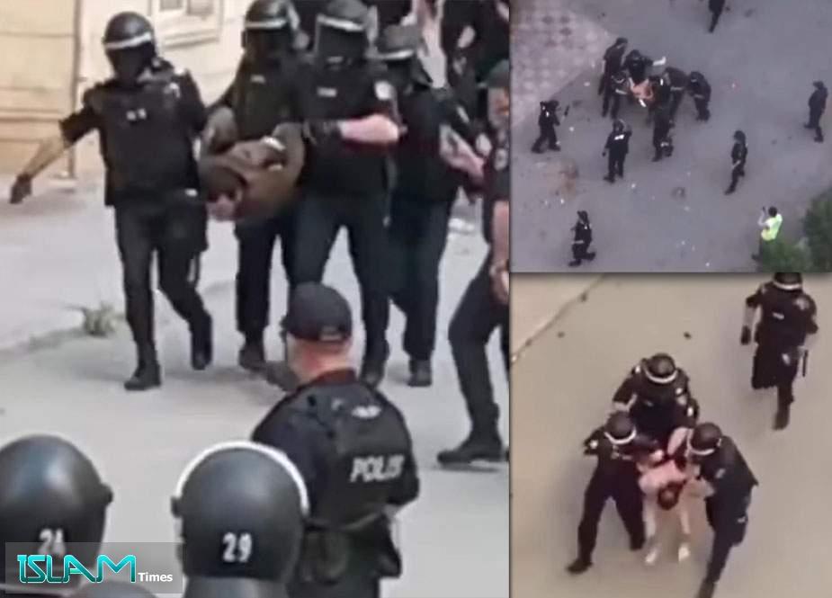 Polisin Yasamalda inanılmaz qəddarlığı - İnsanlar alt paltarı ilə şöbəyə aparıldı!