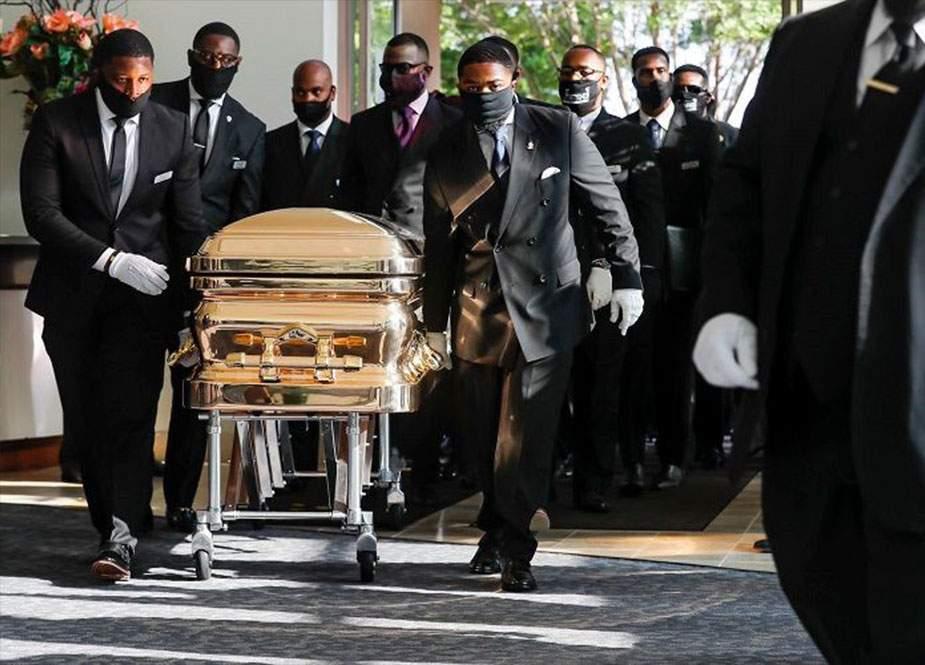 Polis zorakılığı nəticəsində ölən Corc Floyd dəfn olunub