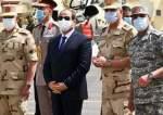 Egyptian President Abdel-Fattah El-Sisi is seen during his inspection tour of Egypt