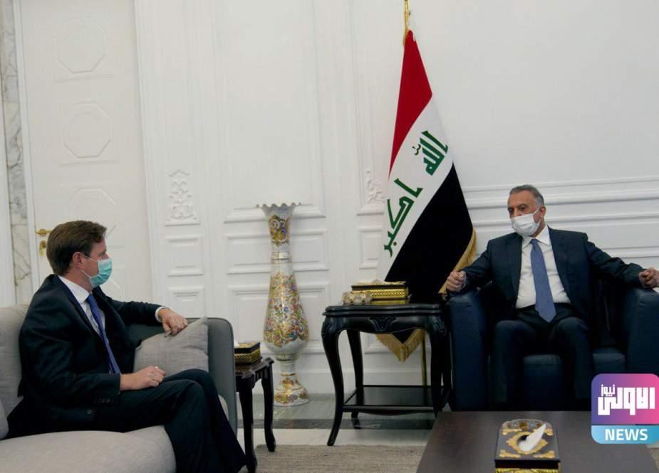 مصطفی الکاظمی سفیر انگلیس در بغداد را به حضور پذیرفت