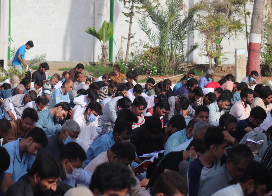 کراچی، آئی ایس او کے تحت دعائے عرفہ کے روح پرور مرکزی اجتماع کی تصویری جھلکیاں