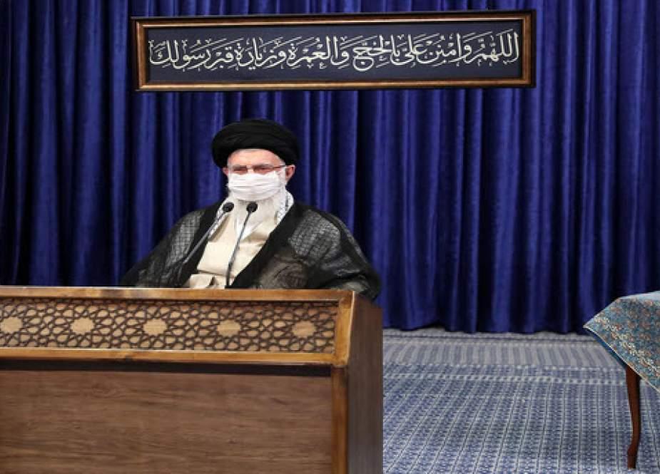 رهبر معظم انقلاب: تحریم آمریکاییها علیه ملّت ایران قطعاً یک جنایت است