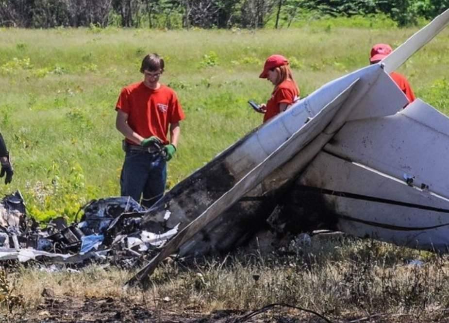 امریکا میں چھوٹا طیارہ گر کر تباہ، ایک ہی خاندان کے 4 افراد ہلاک