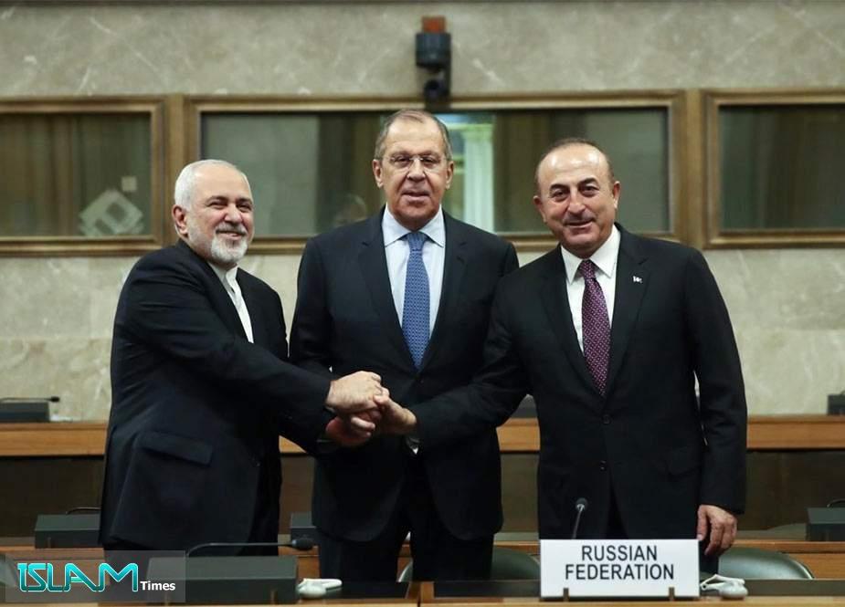 Lavrov: İran, Rusiya və Türkiyə Suriya mövzusunda həmfikirdir