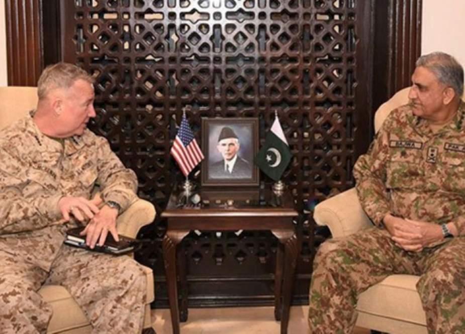 آرمی چیف سے امریکی سینٹکام کمانڈر جنرل میکنزی کی ملاقات