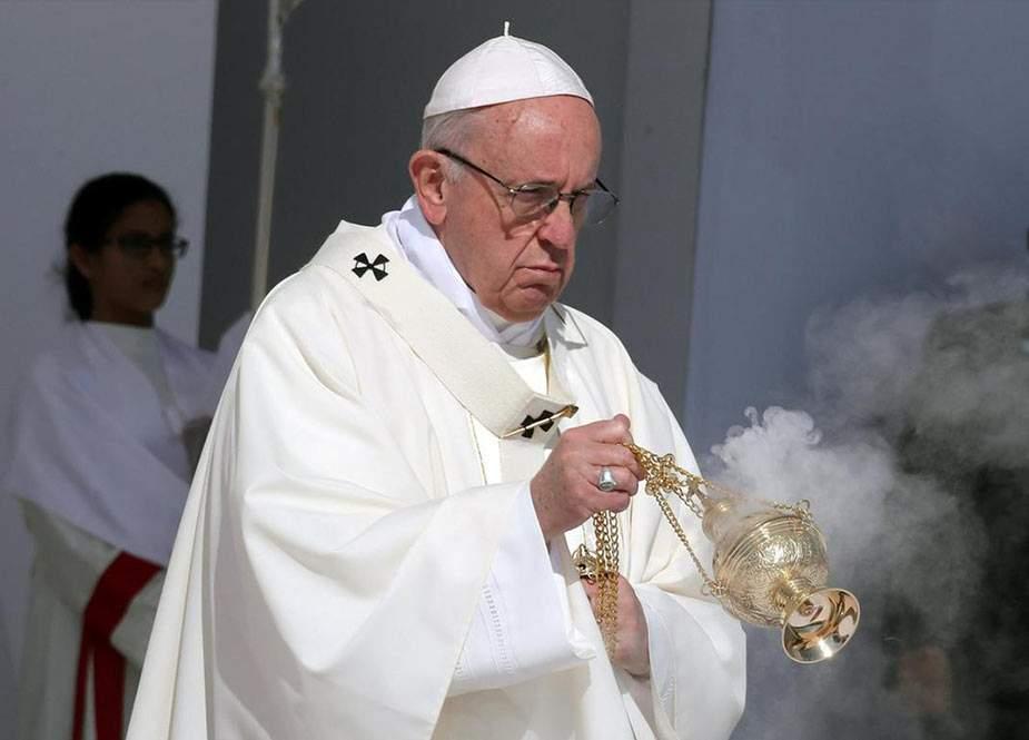 Roma papası Pompeo ilə görüşməkdən imtina etdi