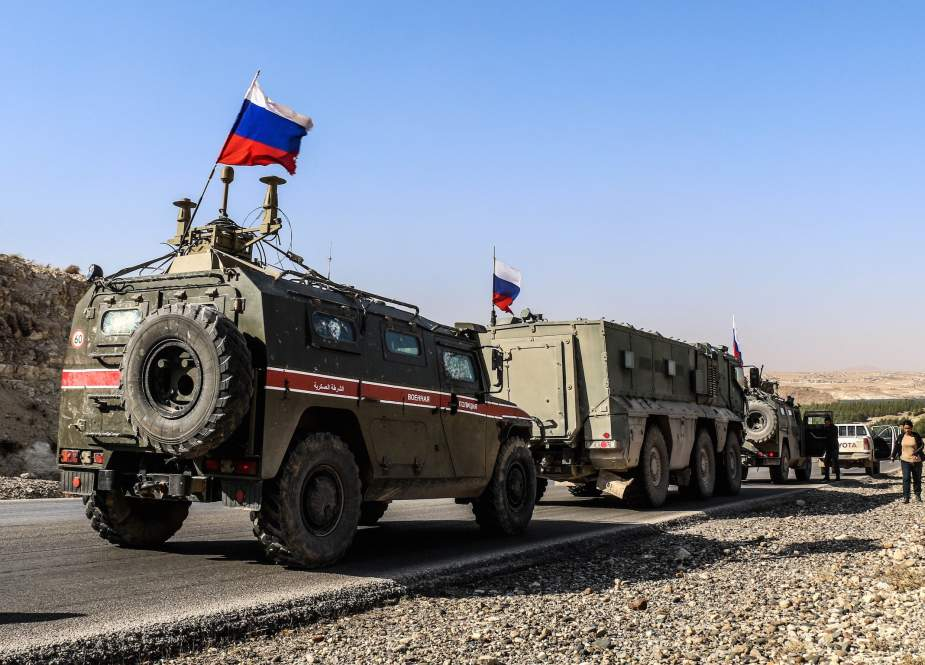 Russian military police as they enter the base at the Tishrin Dam on the Euphrates, east of Aleppo.jpg