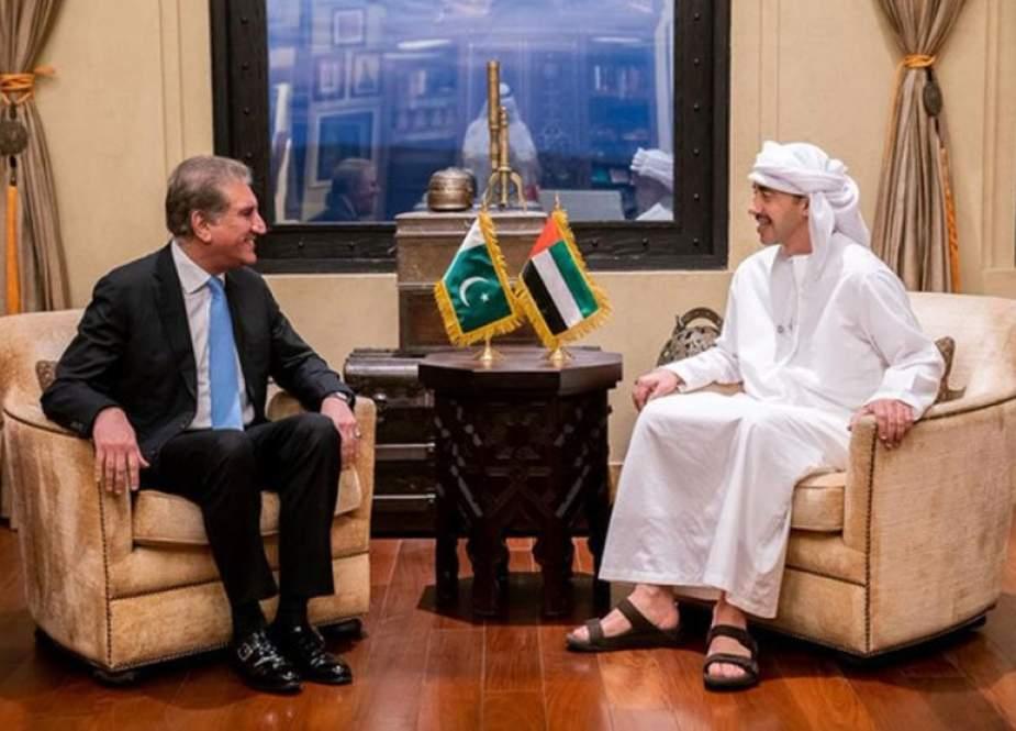 شاہ محمود کا UAE کے ہم منصب سے ٹیلیفونک رابطہ