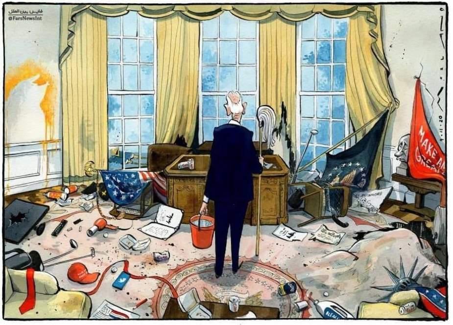 ABŞ-ın yeni prezidenti Co Bayden, Donald Trampdan sonra Ağ Evə daxil olarkən...