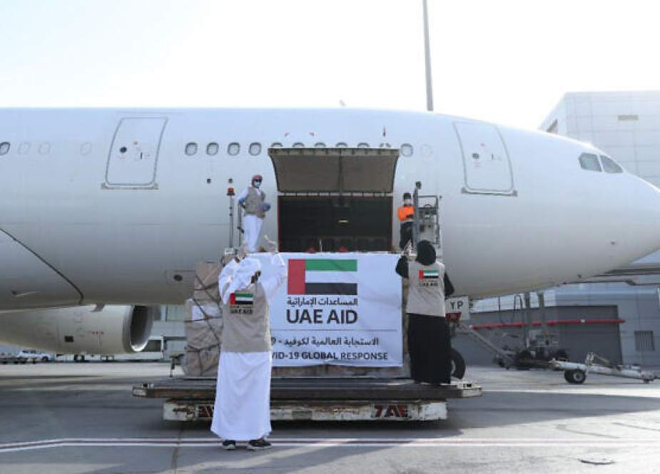Etihad Airways flights loaded with aid landed in the Zionist entity.jpg