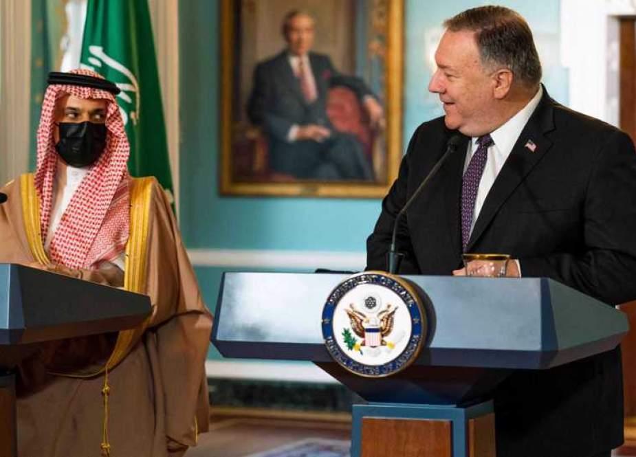 Secretary of State Mike Pompeo, ans Saudi Minister of Foreign Affairs Prince Faisal bin Farhan Al Saud.jpg