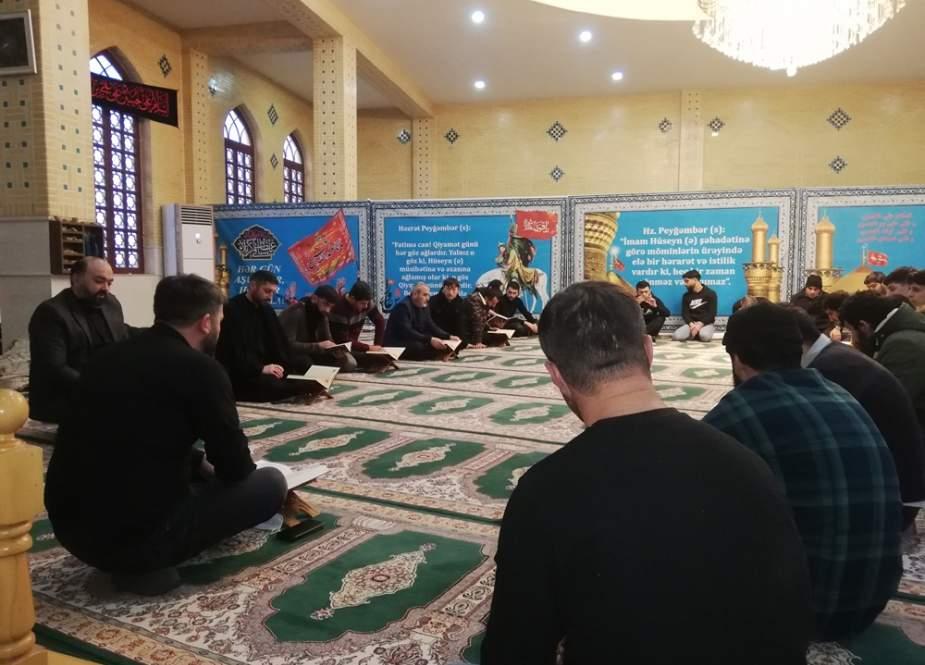 Marneuli İmam Hüseyn (ə) adına olan məsciddə Quran və əza mərasimi keçirilib