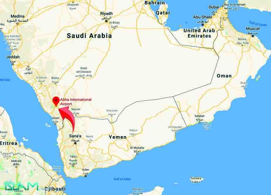 جارح سعودی عرب کی ابہاء ایئربیس پر یمن کا جوابی میزائل حملہ