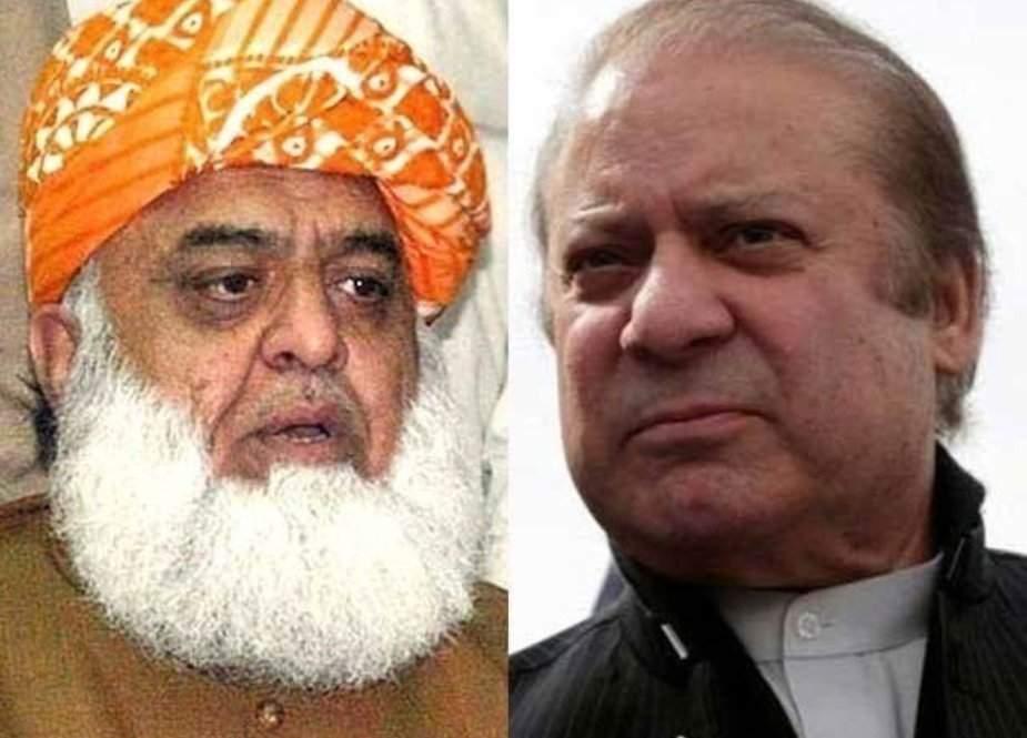 نواز شریف اور فضل الرحمان کا پی پی کے بغیر بھی تحریک جاری رکھنے پر اتفاق