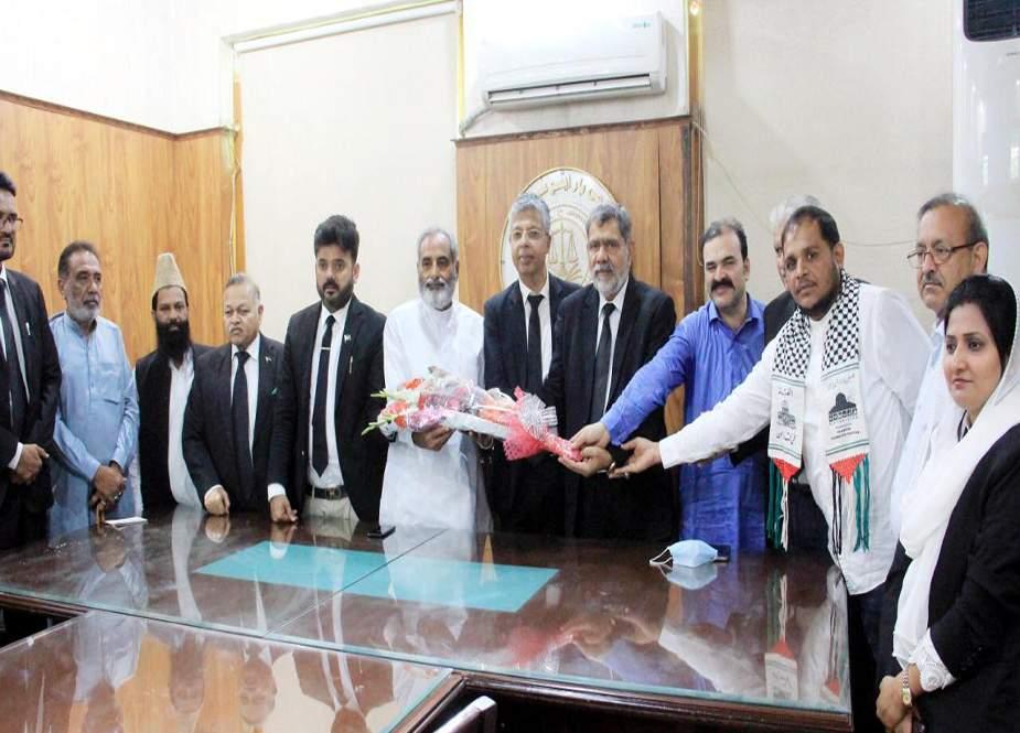 وکلاء برادری فلسطین کاز کیلئے جدوجہد جاری رکھے گی، کراچی بار ایسوسی ایشن