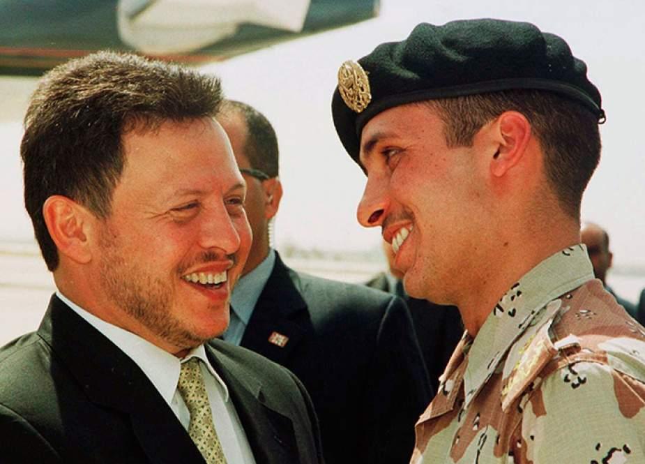 Jordan King Abdullah dan Prince Hamzah