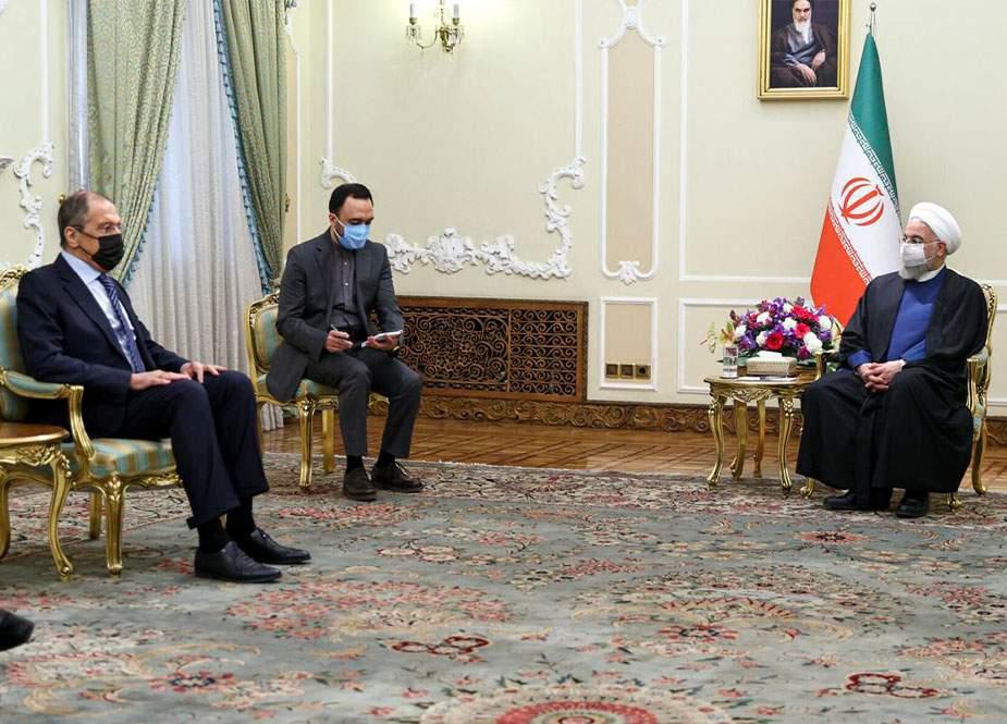 Sergey Lavrov İran prezidenti Həsən Ruhani ilə görüşüb (FOTO)