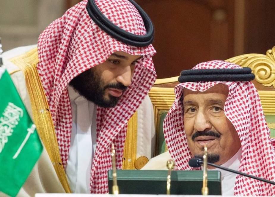 King of Saudi Arabia, Salman bin Abdulaziz Al Saud (R), and Crown Prince of Saudi Arabia Mohammad Bin Salman in Riyadh