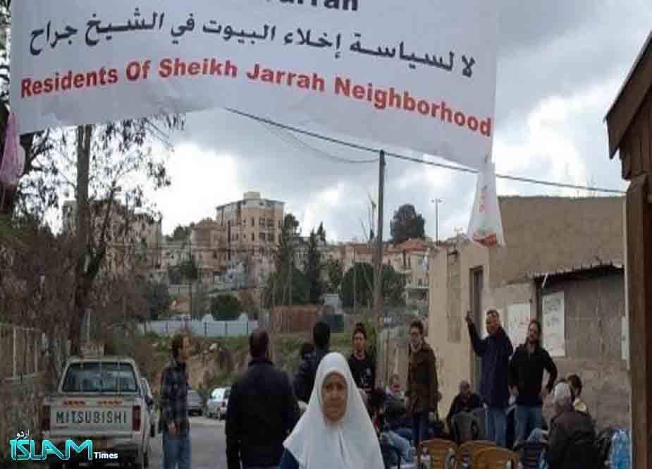 غاصب صیہونی رژیم قدس شریف کے ایک اور محلے سے فلسطینیوں کو بے گھر کرنے کے درپے