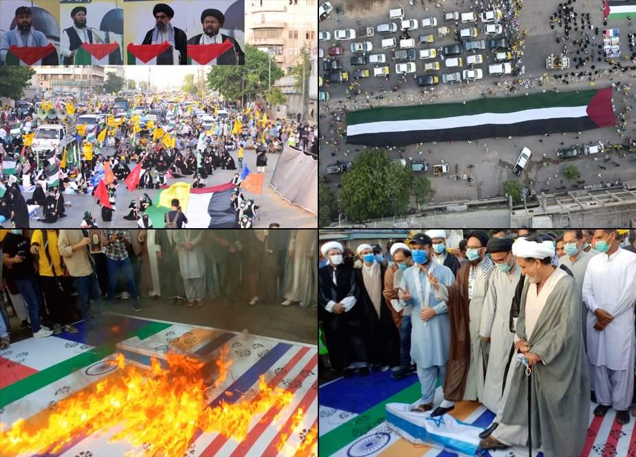 کراچی، تحریک آزادی القدس کی عظیم الشان آزادی قبلہ اول ریلی