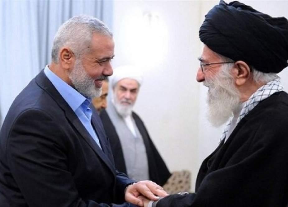Imam Sayyed Ali Khamenei and Ismail Haniyeh.jpg