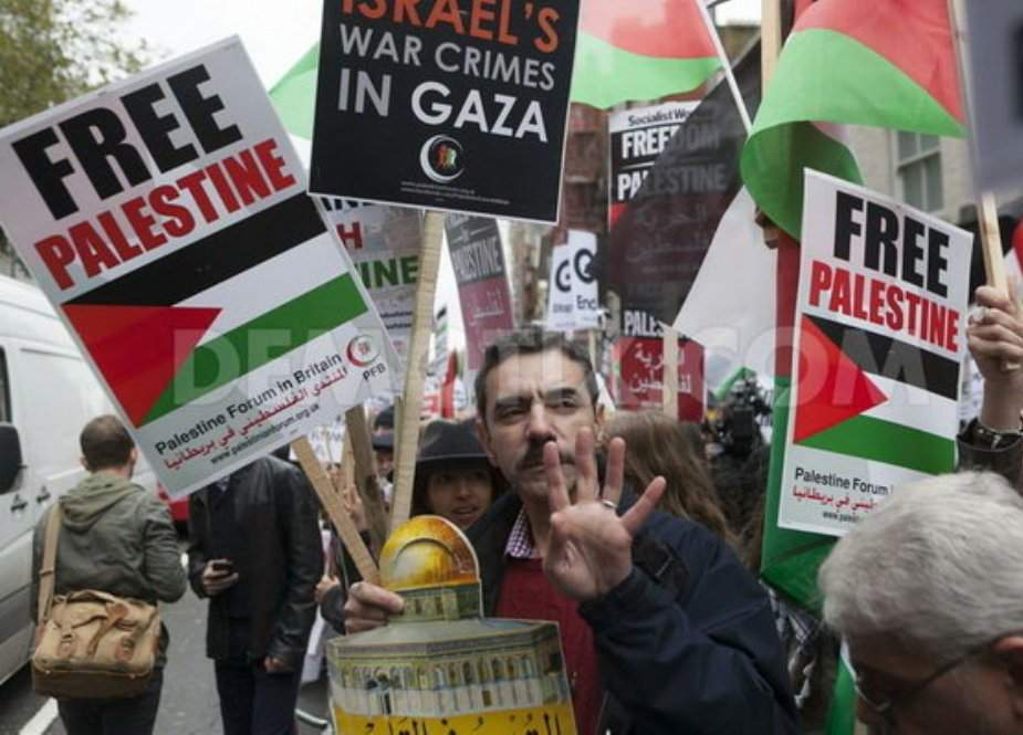 دنیا کے مختلف ممالک میں فلسطینیوں پر اسرائیلی جارحیت کیخلاف احتجاج