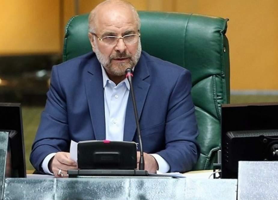قاليباف یكرم ذكرى شهداء الاعتداء الإرهابي على البرلمان