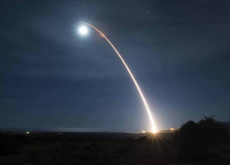 An unarmed Minuteman III intercontinental ballistic missile (RT).