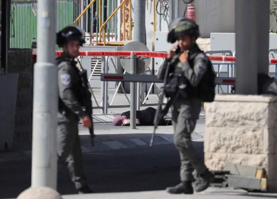 Israeli occupation forces kill Palestinian woman near Qalandiya checkpoint.jpg